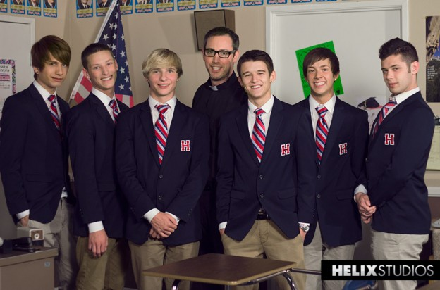 Father Glenn at Helix Academy