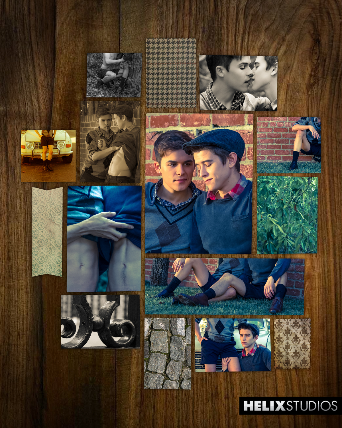 Evan Parker & Andy Taylor collage