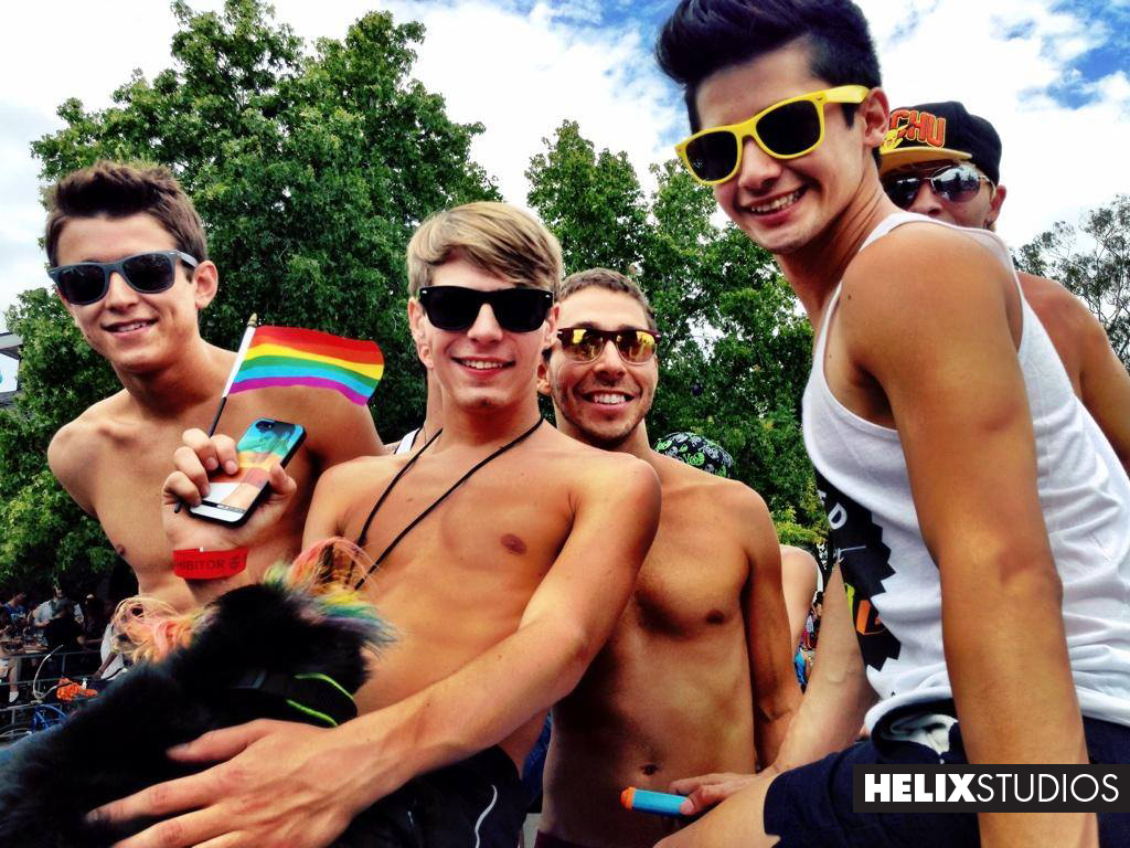 Helix Boys at Gay Pride